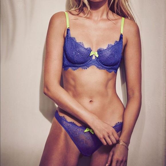 59d1481c54 Victoria s Secret chantilly lace bra panty set NEW